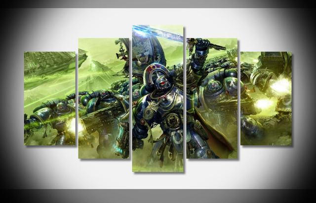 7225 warhammer 40k space marine poster wood framed gallery for Decor 40k