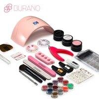 BURANO 24W LED Dryer Lamp Timer Block Sanding French Nail Art Tips Gel Tools DIY Kit manicure set 003