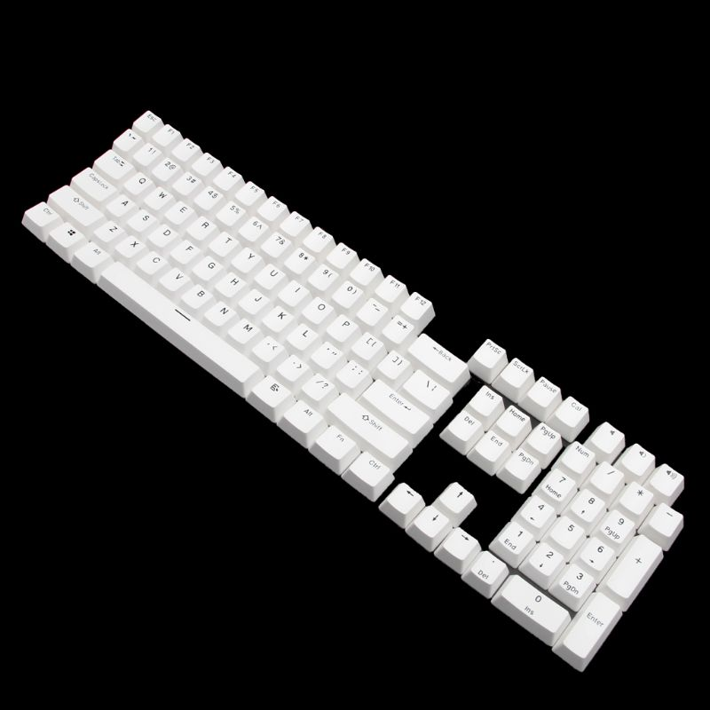 108 Teclas Pbt Keycap Perfil De Cereza Diseño Ansi Inyección Bicolor Sobre Moldura Keycap Para Teclado Mecánico