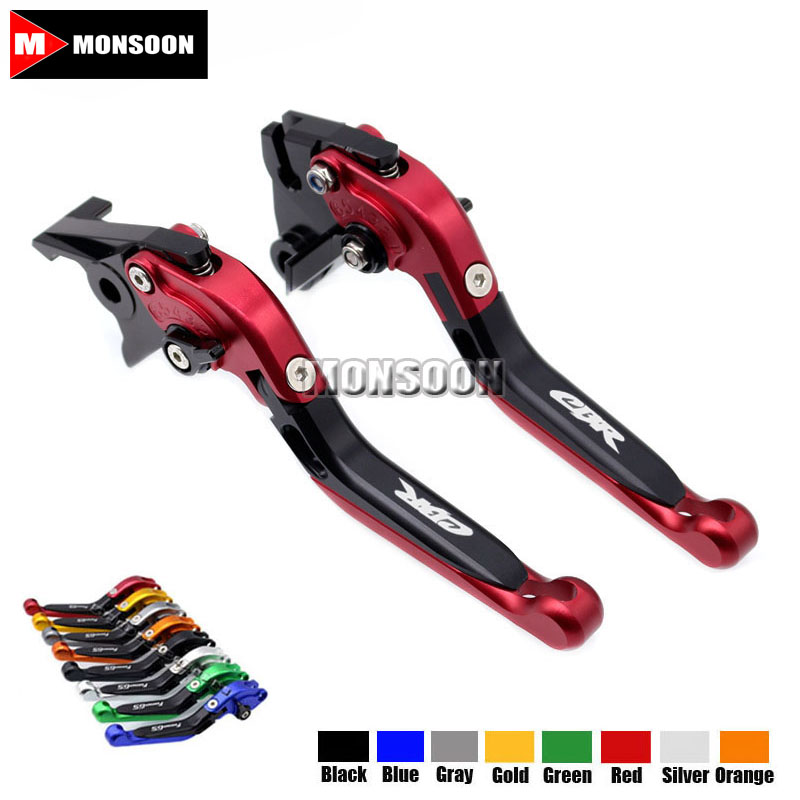 LOGO CBR For HONDA CB1000R CB 1000R 2008-2016 2009 2010 Motorcycle Accessories Folding Extendable Brake Clutch Levers 20 Colors 8 colors cnc folding foldable extendable brake clutch levers for honda cb650f cb 650f cb 650 f 2007 2014 2008 2009 2010 sliver
