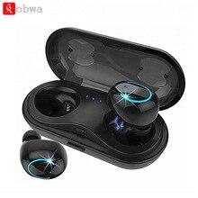 KOBWA Q18 СПЦ Беспроводной Bluetooth наушники гарнитуры HiFi бас наушники с микрофоном зарядки коробка Наушники для смартфонов