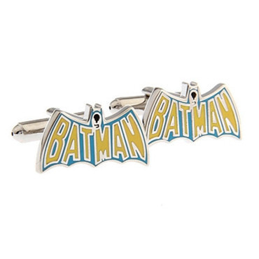 Yellow Batman Name Cufflink for Men
