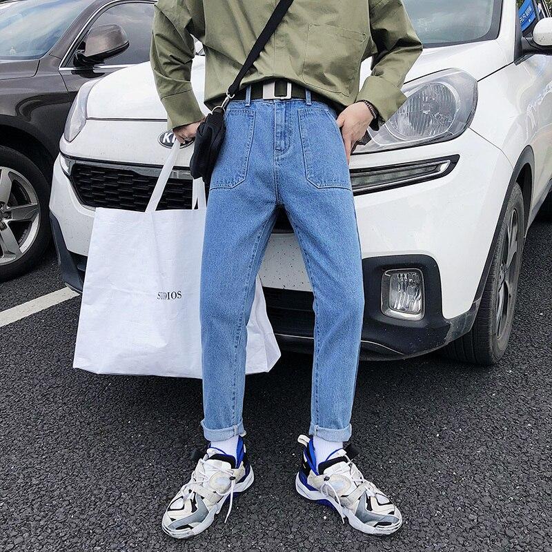 Stretch Casual Bleu Pantalon Jeans Biker Fit 2018 Poche Blue deep Hommes Cargo Classique Denim Blue De Mode Homme Light M 2xl Cowboy Slim Laver a8f0qzI8