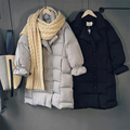 Winter New Down Coat Cotton Clothing Fashion Korean version Solid Color Cotton Jacket Women Casual Long Section Warm Coat Women