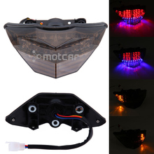 New Motorcycle LED Smoked Lens Integrated LED Rear Tail Light Tail Turn Signals Light Fits For KAWASAKI Ninja 300 2013 EX300 motorcycle rear tail light brake signals led integrated lamp smoke light for ninja300 ninja 300 300r ninja300r 13 14 15 16