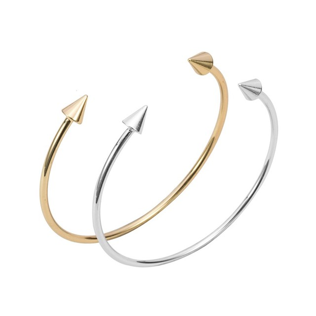 Oly2u Cute Simple Design Spike Bracelet Cuff,double Arrow Bracelet Jewelry Fashion -Free shipping
