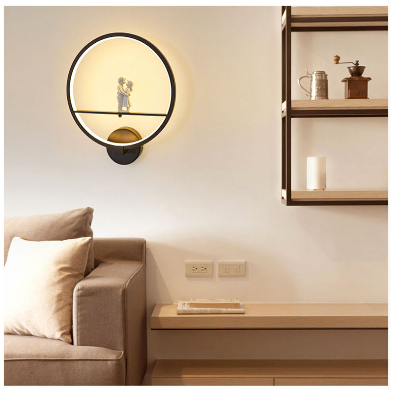 [DBF]Acrylic LED Wall light Lamp for Lover Modern Simple Bedroom Bedside Light Indoor Kitchen Dining Room Corridor Wall Lighting new led wall light creative footprint dimming lamp for bedroom dining room lamp acrylic circular sitting room lighting
