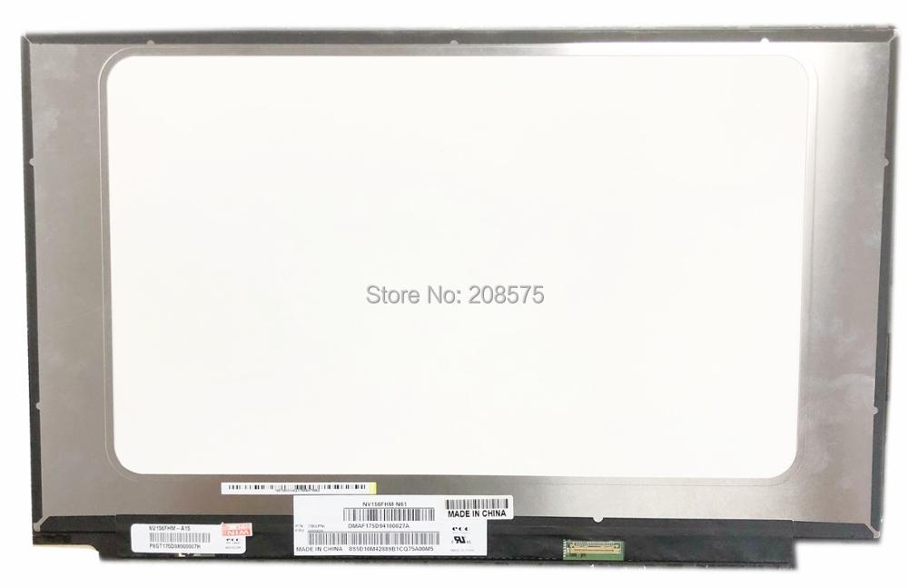 Free Shipping NV156FHM-N61 NV156FHM N61 NV156FHM-A15 Laptop Lcd Screen 1920*1080 EDP 30 pin 72% NTSC IPS LCD Screen free shipping b140han03 4 laptop lcd screen 1920 1080 edp 30 pin ips