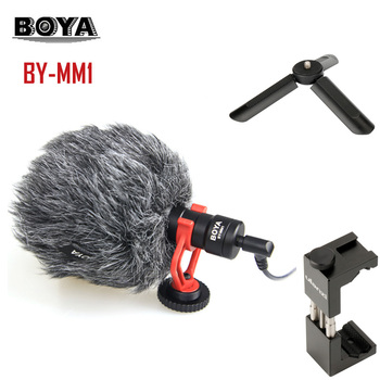 High Quality BOYA BY-MM1 VideoMicro Compact On-Camera Recording Microphone for xiaomi huawei  iphone smart phone microphone
