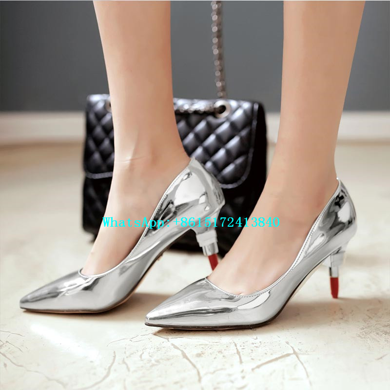 ФОТО Hot Sale! High Quality High Heels Pointed Toe Strange Style Sequined Cloth Pumps Slip-On Shallow Bling Sexy Women Wedding Shoes
