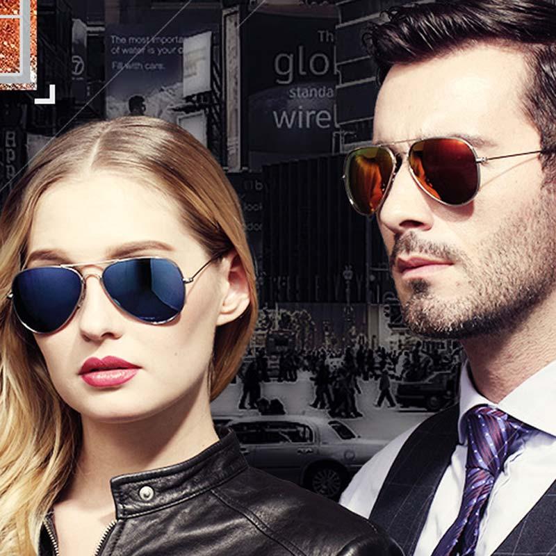 Reggaeon women sunglasses Polarized man 2018 high quality pilot aviation Small sun glasses mirror rayeds 55mm lens anti-glare