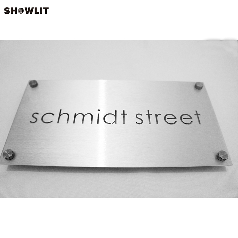 Custom Aluminum House Address Number SIgn Plaque Size Optionable custom acrylic frosted house sign modern number name plaque 200x140mm home