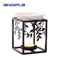 European Style Incense Burner Iron Art Aroma Lamps for Yoga Censer Candle Heater Essential Oil Fragrant Stove Decoration Crafts