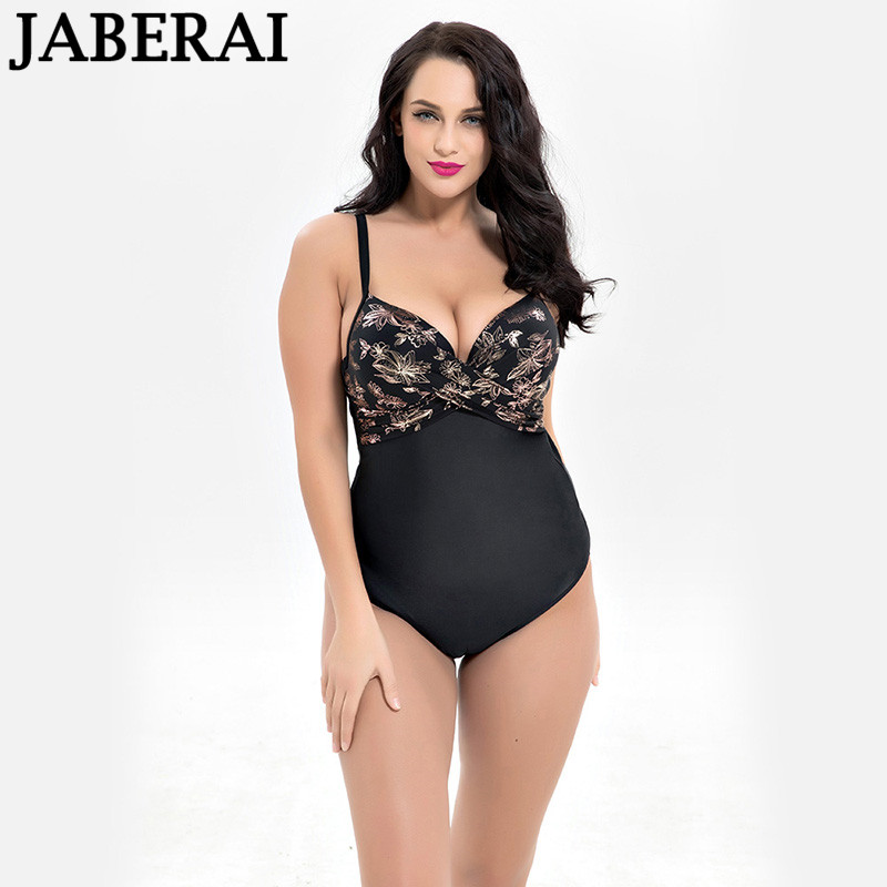 JABEARI plus size swimwear women one piece swimsuit sexy push up swimwear print bodysuit bathing suit female beach wear one piece swimsuit cheap sexy bathing suits may beach girls plus size swimwear 2017 new korean shiny lace halter badpakken