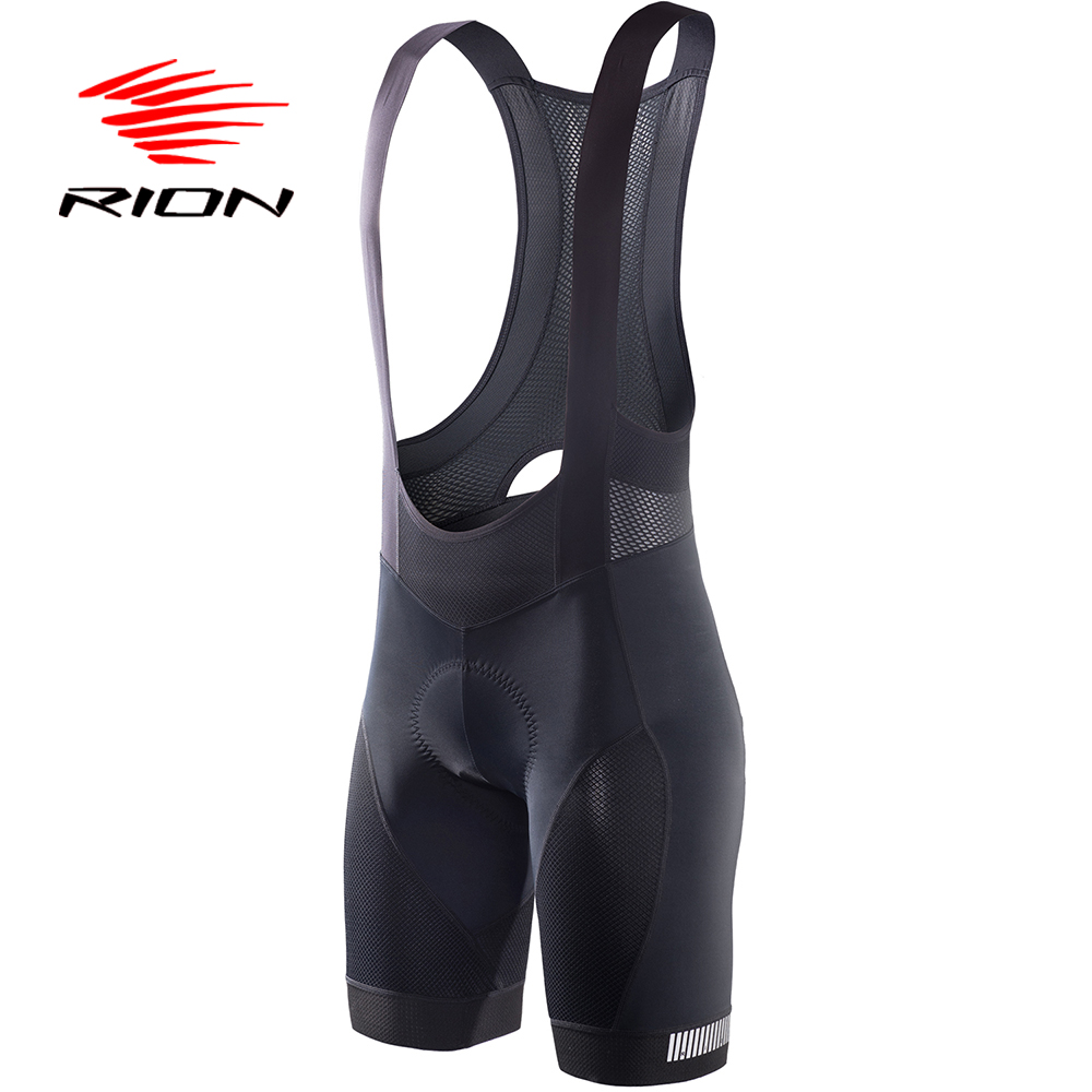 RION Cycling Bibs Shorts Mountain Bike Breathable Men's Bike Gel Padded Tights Triathlon Man Pro Licra Bicycle Pants Under Wear