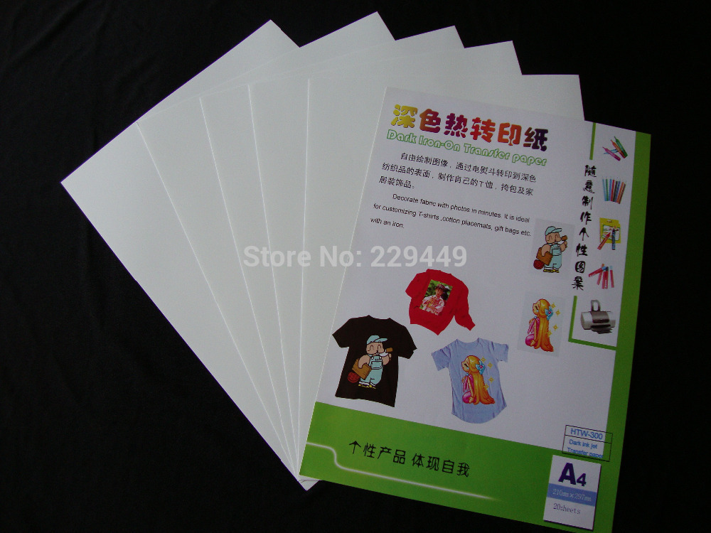 A320pcs paper dark color inkjet heat transfer printing paper sticker thermal heat transfers with heat press for t shirt on aliexpress com alibaba group