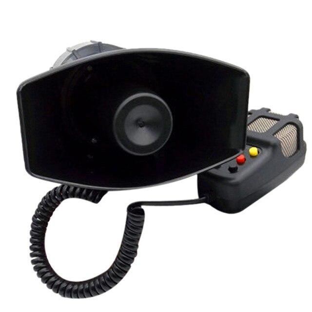 Wielofunkcyjny 100W 7 dźwięk samochodowy elektroniczny ostrzegawczy syrena Alarm motocyklowy strażacy pogotowia głośnik z mikrofonem