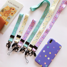 WTSZKL Mobile Phone Straps phone hand Neck Strap cord For Keys ID Card USB Badge Holder Hang Rope Cute Flower Lanyard