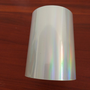 Image 2 - Two rolls Transparent holographic foil  Hot stamping foil hot press on paper or plastic 8cm x120m heat stamping film
