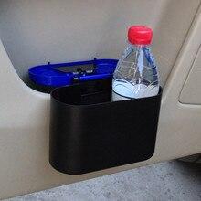 Автомобильный мусорный контейнер, мини автомобильный квадратный ПВХ чехол-органайзер, держатель для мусора, мусорный ящик для хранения, мусорный бак для автомобиля, cubo basura coche