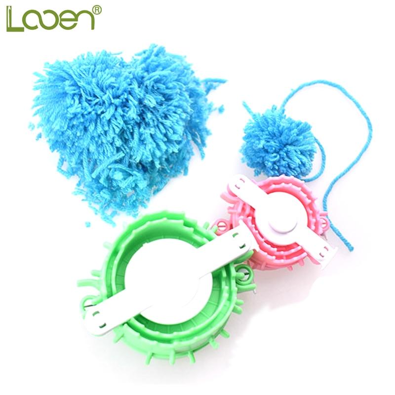8 Size Pompom Maker Fluff Ball Weaver Needle Knitting Crafts bobble DIY OP