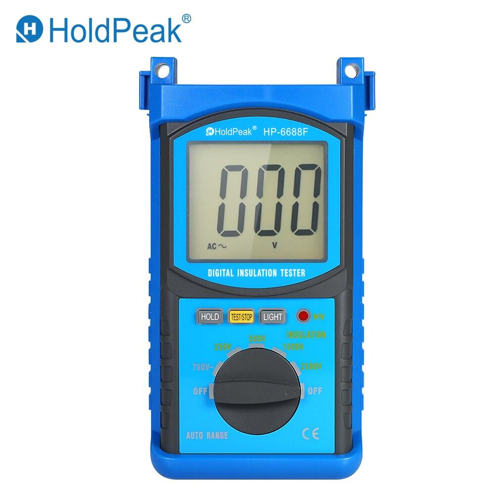HoldPeak Auto range LCD Digital Insulation Resistance Tester Megohm Meter Megger Megohmmeter DC250V 500V 1000V 2500V