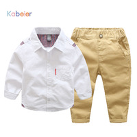 2018 New Boys Sets Kids Clothing Shirt + Pants Suit Sets for Boys Gentleman Party And Wedding Long Sleeve Kids Boy Clothing Set