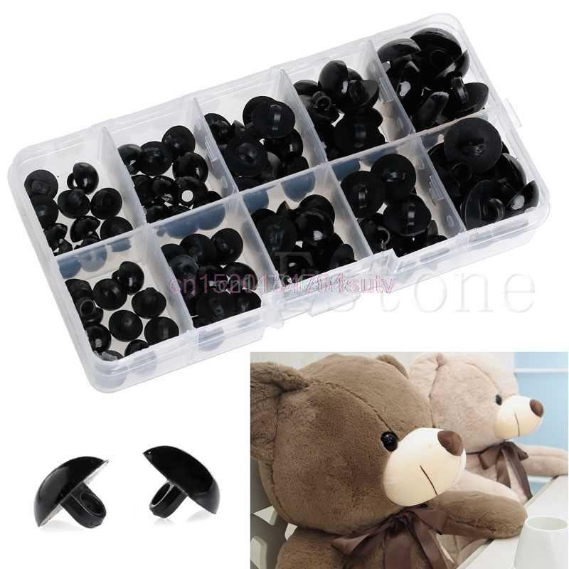Горячие 100 шт 9-15 мм безопасные пластиковые глаза шайба для плюшевого медведя кукла игрушечный щенок # H055 #