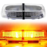 GETUITE Newest 72 LED 5730 SMD Car Roof Flashing Strobe Emergency Light DC 12V 24V LED Truck Police Fireman Warning Lights Amber