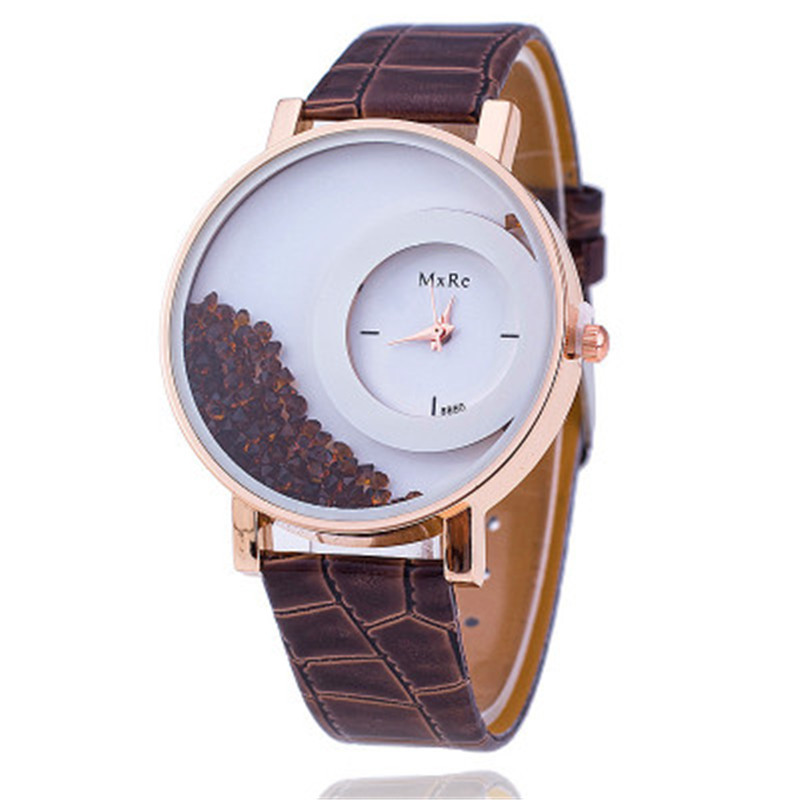 MEIBO Fashion Leather Strap Women Rhinestone Wrist Watch Casual Women Dress Watches Watched Hot Relogio Feminino BW656 MXRE luobos small dial women watch fashion casual leather quartz wrist watches ladies hot sale simple style watched relogio feminino