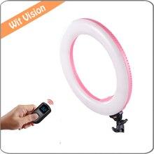 40 W Bi-color LED Ring Light 2.4G Controle Sem Fio Iluminação Fotográfica Câmera/Estúdio/Fotografia De Vídeo Lâmpada anel + Carry Bag