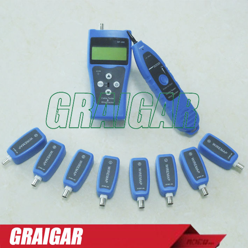 Multipurpose LAN Cable Tester NF-388 Testing Network Coaxial Telephone USB Cable with 8 Remote Identifier Cable Length Tester  цены