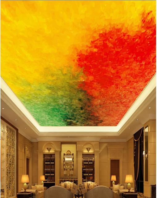 Verde E Giallo Affreschi Del Soffitto Personalizzata 3d Mural