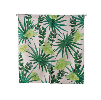 Green Plant Leaf Nature Shading Rural Door Window Curtain Home Decoration Bedroom Living Study Room Kitchen Cafe Coffee Bar