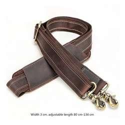 THINKTHENDO Регулируемый винтажный кожаный сменный плечевой ремень для аксессуар для багажа 80-134 см