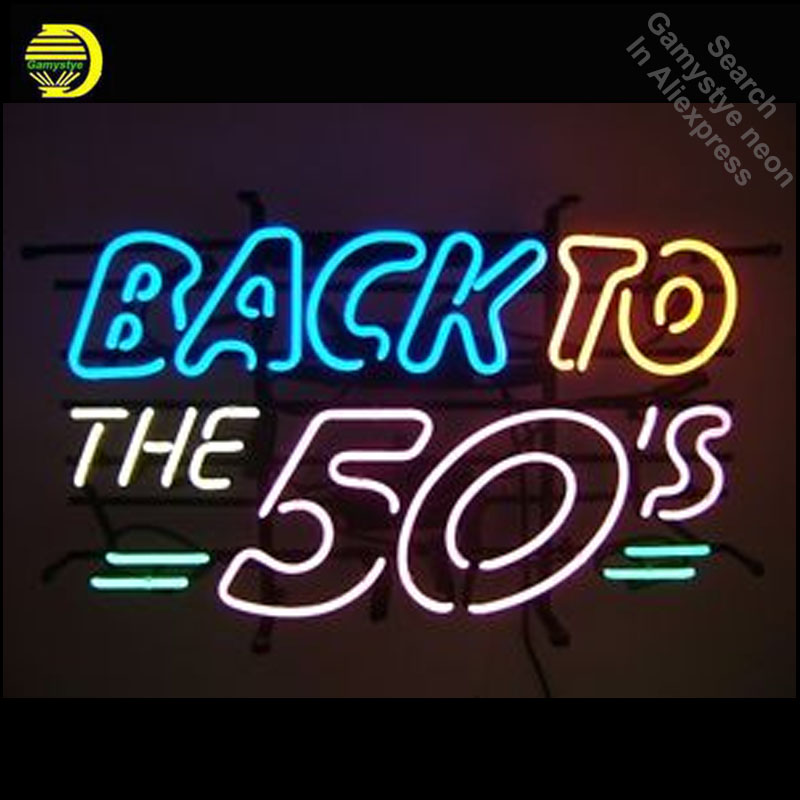 все цены на New 50's American Style Retro neon Signs Glass Tube neon lights Recreation American Windows Iconic Sign Neon Light LAmps