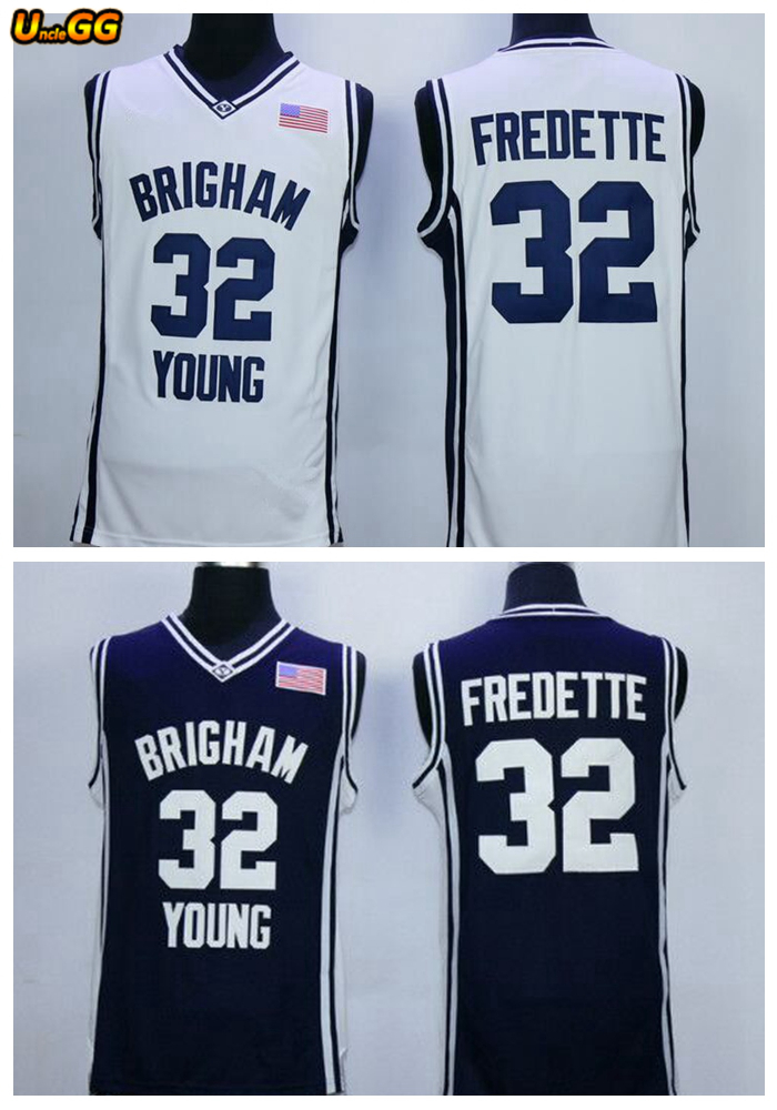 f7c8e60742d Uncle GG Cheap Throwback Basketball Jersey Jimmer Fredette Jersey #32  Brigham Young BYU College Jersey For Men Retro Shirts. שמור מוצר. gallery  image