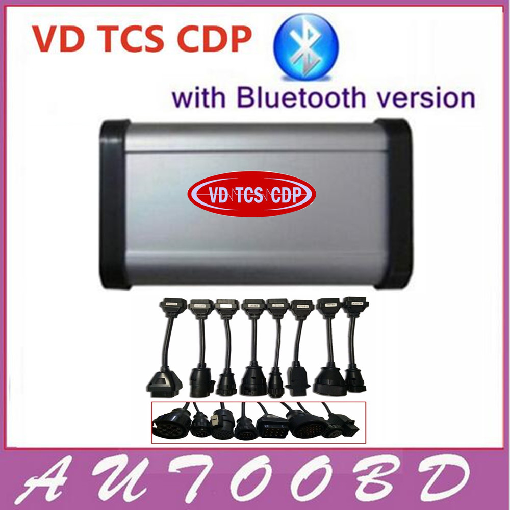 Lowest Price! VD TCS CDP 2015.3 R3 Software! New vci with Bluetooth cdp Scanner+full 8 Truck cables for Auto OBD2-Freeshipping