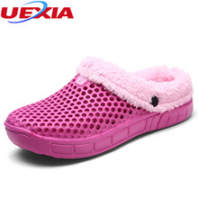 UEXIA EVA Plush Home Shoes Women Winter Slippers Fashion Female House Shoes Soft Bottom Women's Warm Slippers Indoor Floor Flats
