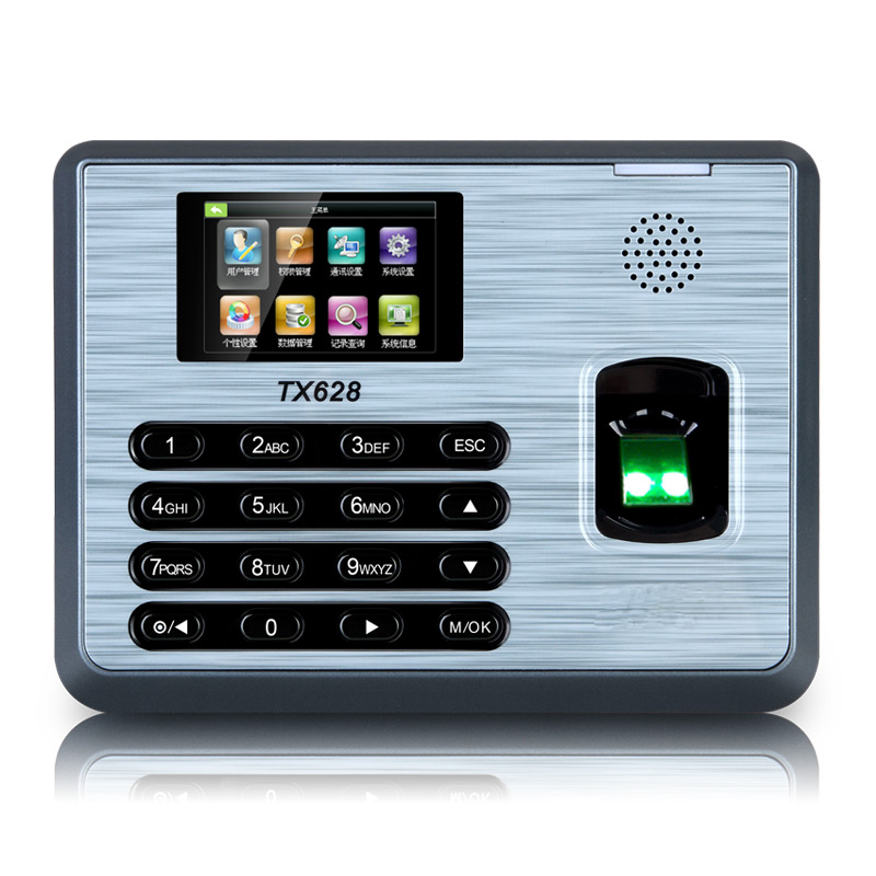 ZK TX628 TCP/IP Fingerprint Time Attendance With Free Software ZK Biometric Fingerprint Time Clock zk tx628 3 inch color screen new tx628 id 125khz tcp ip rs232 485 biometric fingerprint time attendance recorder time clock sdk