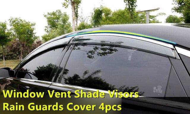 For Kia Optima K5 2016 2017 Full Set Window Vent Shade Visors Rain Guards Cover Trim 4pcs NEW!!