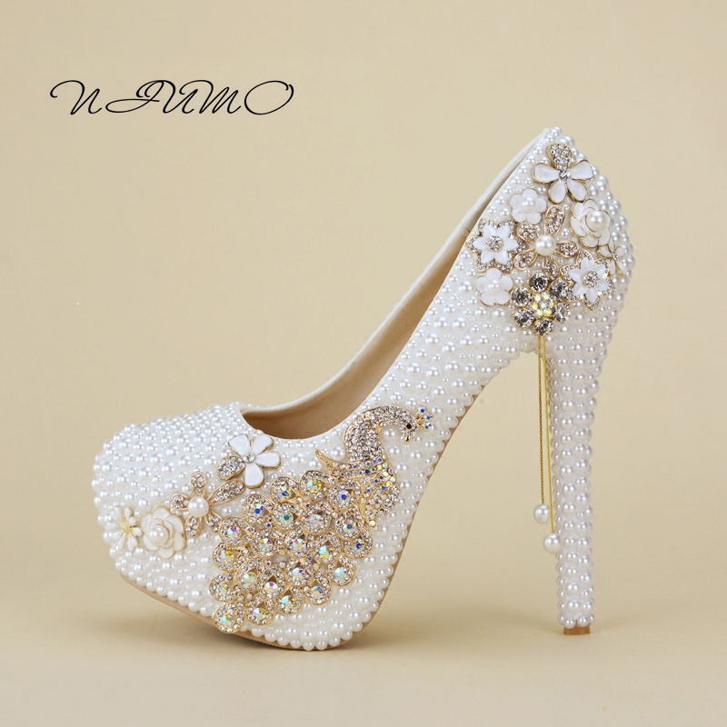 White pearl Phoenix bride shoes Ultra-fine with fine wedding photo shoot shoes Shallow mouth pendants wedding shoes коньки onlitop 119250 в наборе защита и колеса 70mm