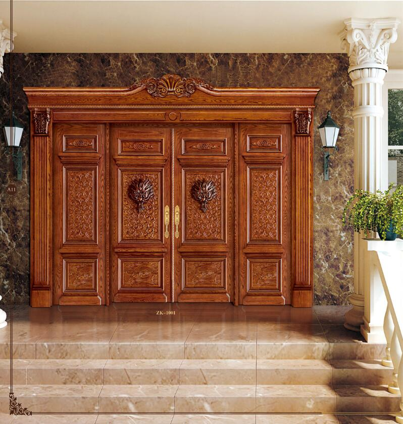 2019 High Quality And Reasonable Exterior And Interior Solid Wood Doors Antique Entry Doors