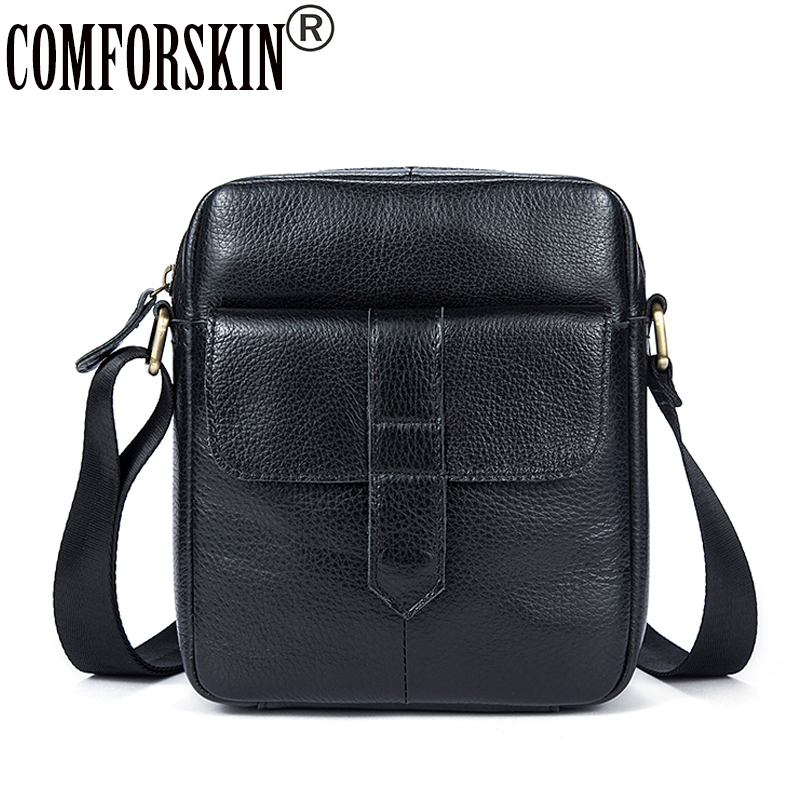COMFORSKIN Bolsa Masculina New Arrivals 2018 Genuine Leather Men Messenger Bags European and American Style Male Bags Hot Sales цена