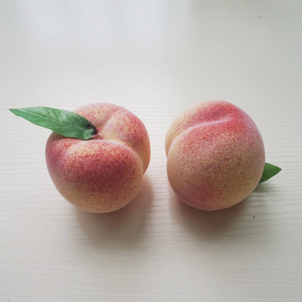 Choose Pack Size Nectarine Peach Fruit Christmas Artificial Nectarines