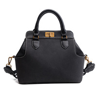 المرأة حقيبة الإناث متجمد الأعلى مقبض حقائب الكتف حقيبة قفل بسيط النمط الكلاسيكي