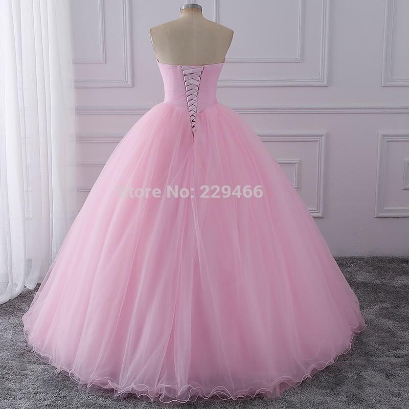 Wuzhiyi Quinceanera robes 2018 rose robe de bal vestidos de festa longo 15 anos doux 16 robe robes de Debutante robe pour la croissance - 5