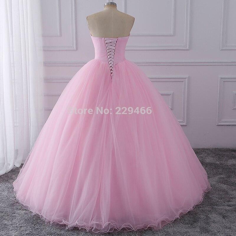 Wuzhiyi Quinceanera robes 2019 rose robe de bal vestidos de festa longo 15 anos doux 16 robe robes de Debutante robe pour la croissance - 5