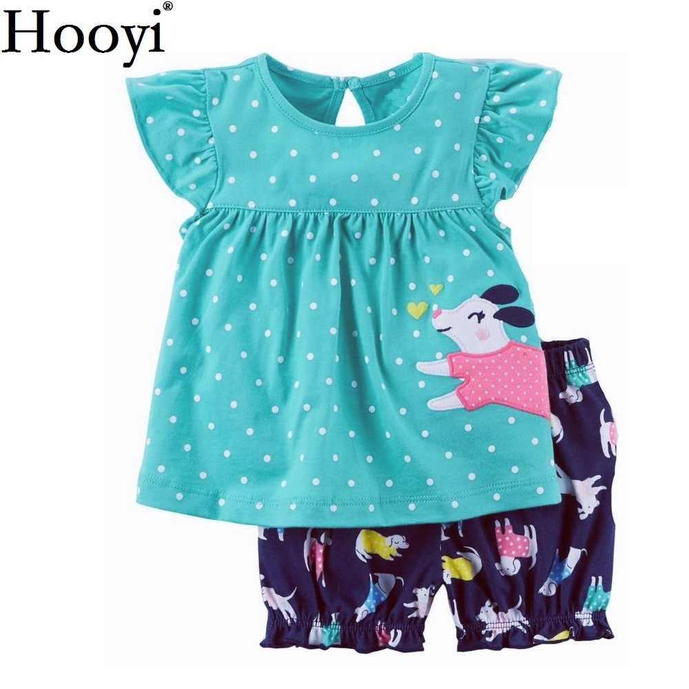 Hooyi/костюм в горошек для маленьких девочек комплекты из 2 предметов с собачкой