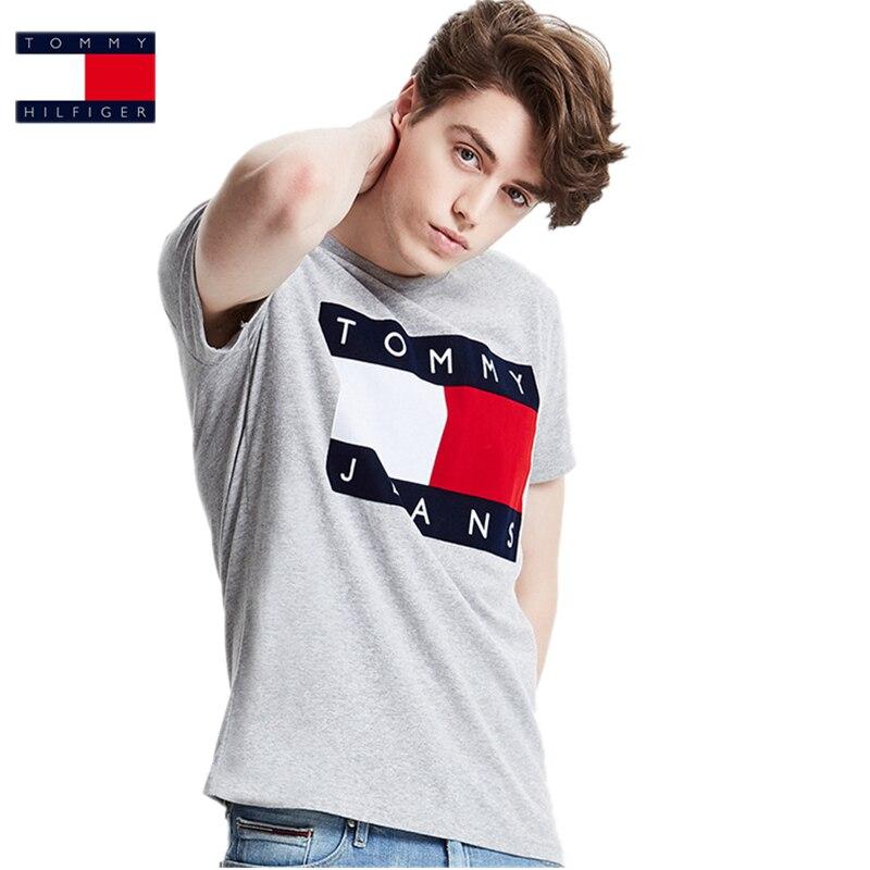 Tommy High Quality hilfigger Brand Hilfigeringlys Polo shirt Men Women Classic Script Logo 100% Cotton Tee shirt NO003